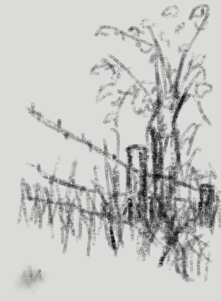 landscape - bbq-charcoal sketches by Casper Gijzen